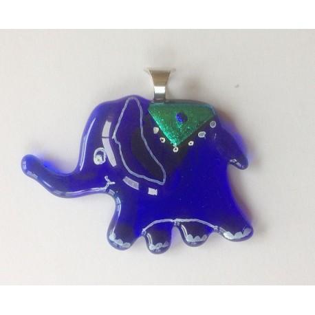 Elefantsmykke blå