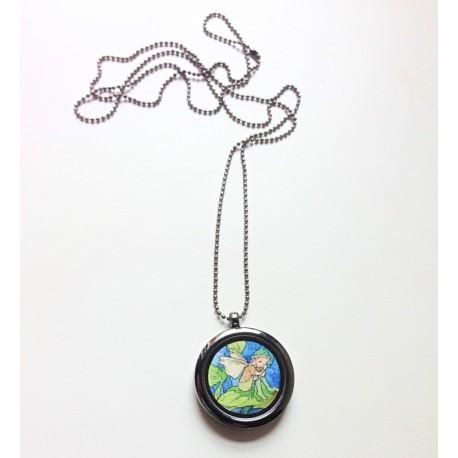 Amulet med alf i stål